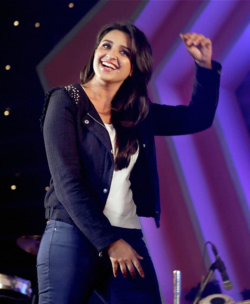 Bollywood actress Parineeti Chopra during a promotional event of her upcoming movie Hasee toh Phasee, in Mumbai.