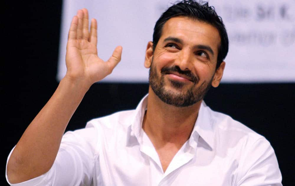 Bollywood actor John Abraham during an event in Mumbai.
