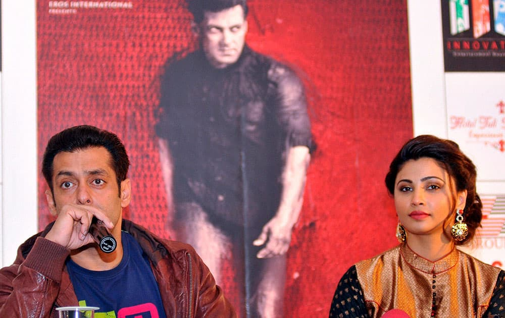 Actor Salman Khan during an event to promote his upcoming film `Jai Ho` in Nagpur.