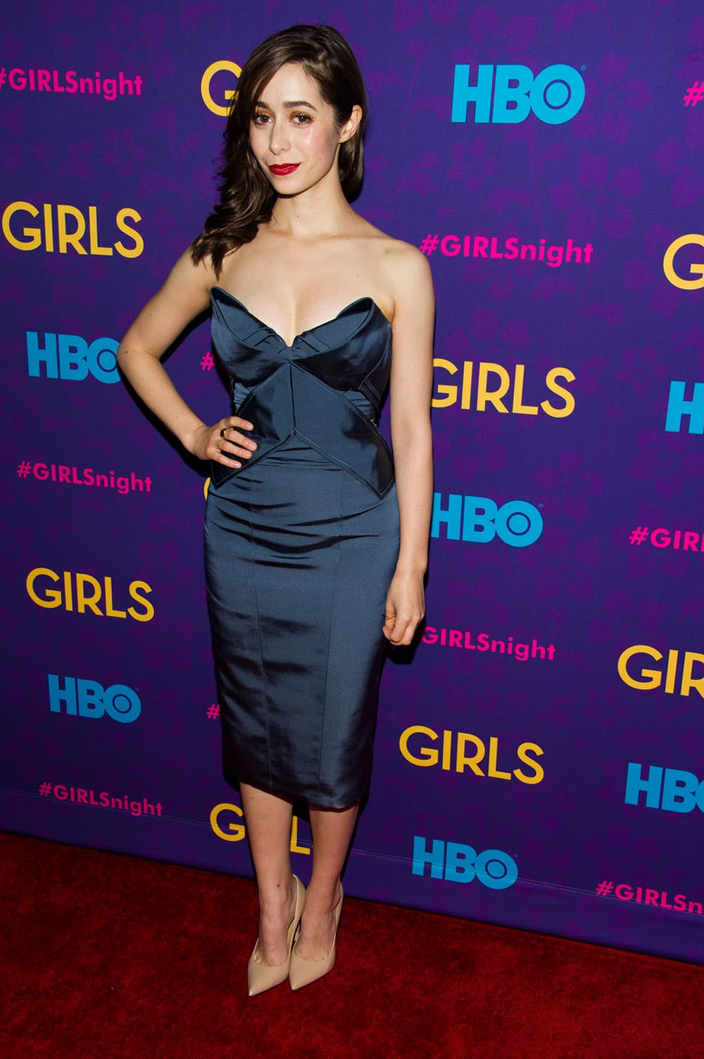 Cristin Milioti attends the premiere of HBO's `Girls` third season in New York.
