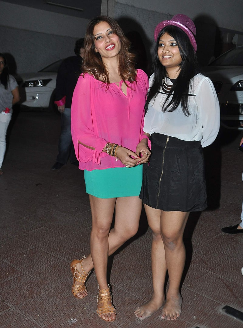Bipasha's younger sister Vijayeta (R) at Bipasha Basu's birthday in Mumbai. (Pic Courtesy : DNA)