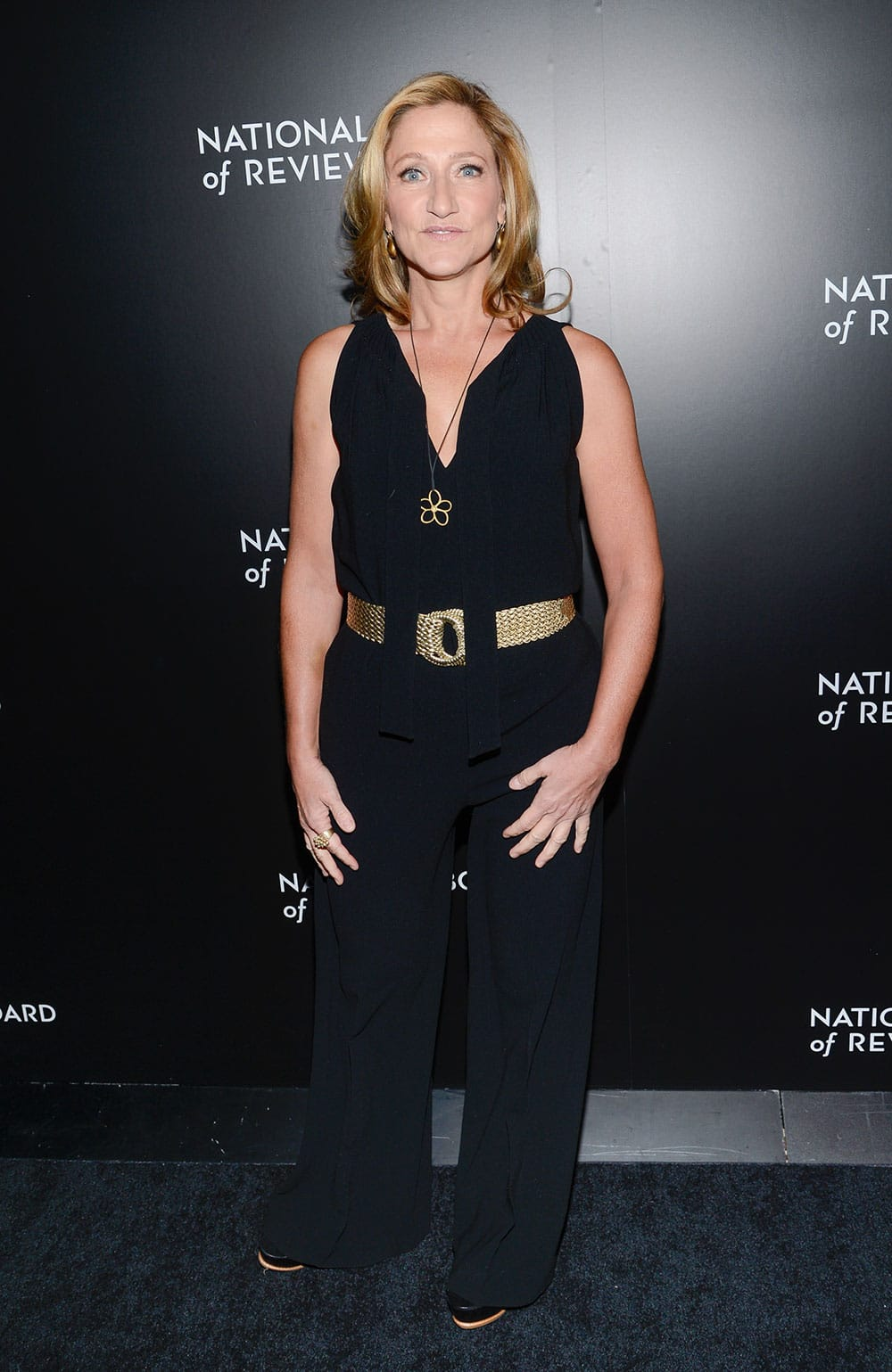 Actress Edie Falco attends the National Board of Review awards gala at Cipriani 42nd Street, in New York.