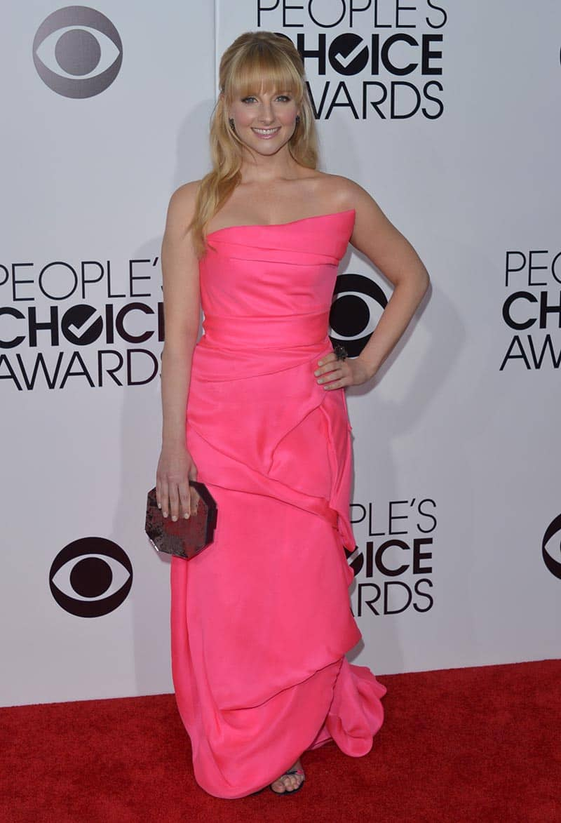 Melissa Rauch arrives at the 40th annual People's Choice Awards at Nokia Theatre, in Los Angeles.
