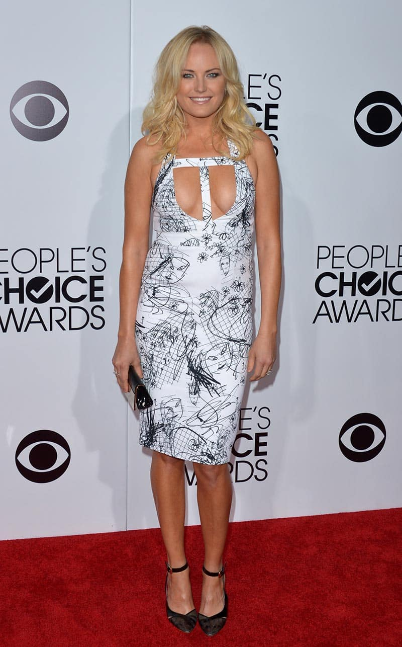 Malin Akerman arrives at the 40th annual People's Choice Awards at Nokia Theatre, in Los Angeles.