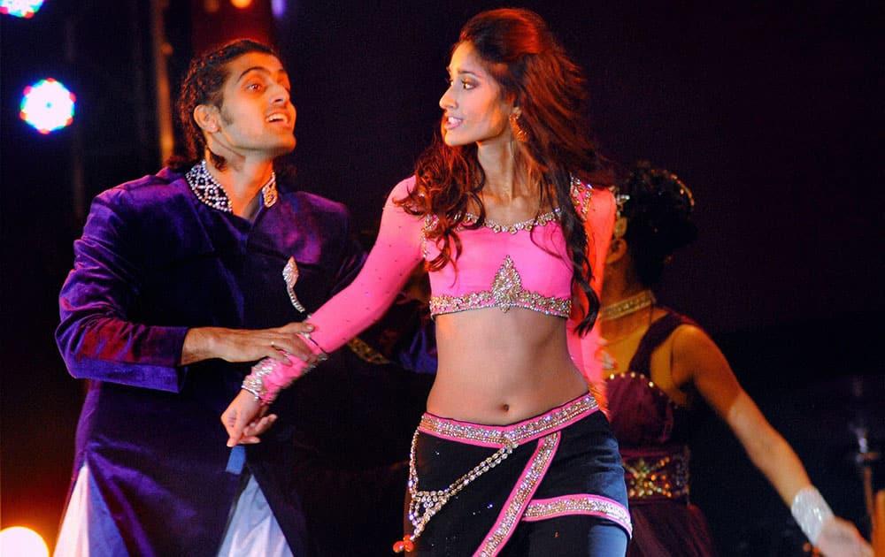 Bollywood actor Ileana D'Cruz performs at Saifai Mahotsav in Etawah district.