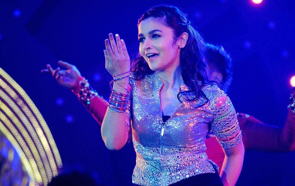 Bollywood actor Alia Bhatt performs at Saifai Mahotsav in Etawah district.