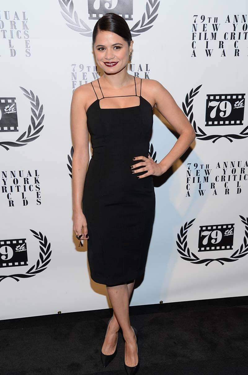 Actress Melonie Diaz attends the 79th Annual New York Film Critics Circle Awards at the Edison Ballroom, in New York.