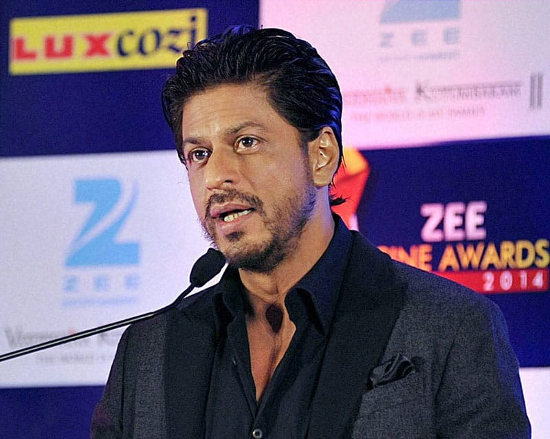 Bollywood actor Shahrukh Khan at the launch of Zee Cine Awards 2014 in Mumbai.