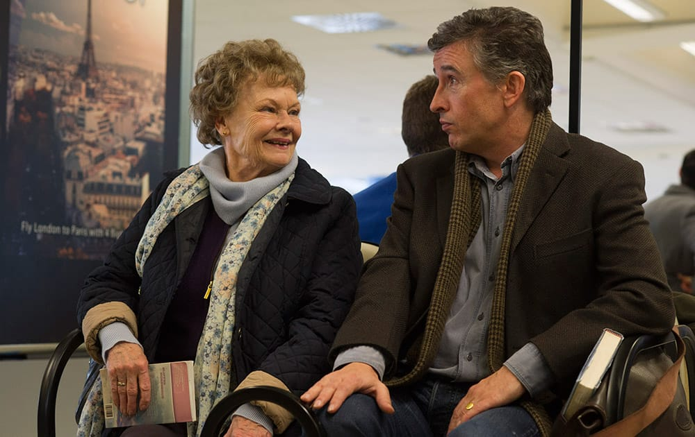 This image released by The Weinstein Company shows Judi Dench and Steve Coogan in a scene from 'Philomena.' The film was nominated for an Academy Award for best picture.
