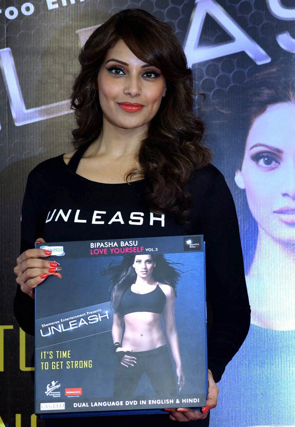 Bollywood actress Bipasha Basu at a release of her Fitness DVD in Mumbai.
