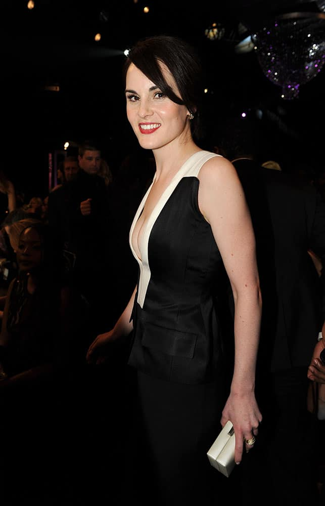 Michelle Dockery is seen in the audience at the 20th annual Screen Actors Guild Awards at the Shrine Auditorium.