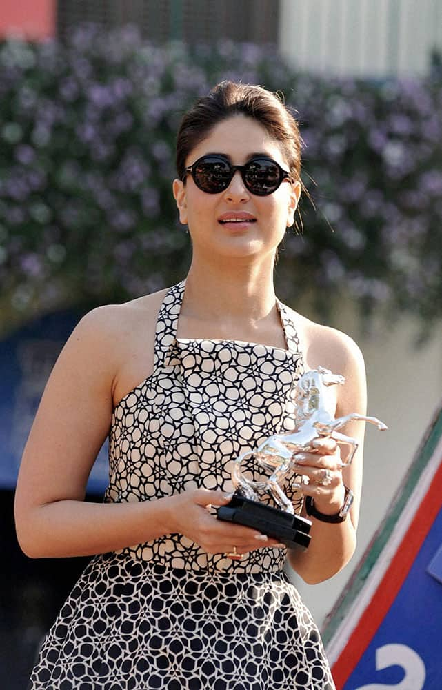 Bollywood actress Kareena Kapoor attended the Darby of Mid Day trophy, during a function, in Mumbai.