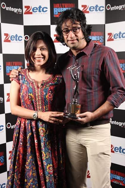 Shilpa Shukla & Ajay Bahl (Most Successful small Budget Film (BA Pass)