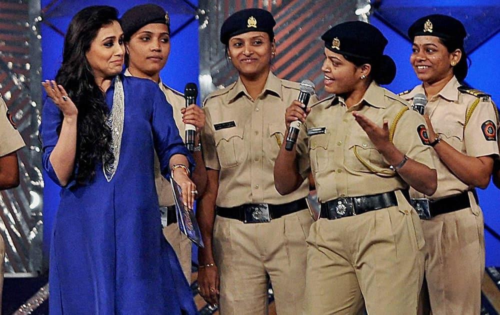 Rani Mukerji performs during the annual Mumbai Police event, Umang 2014, in Mumbai.