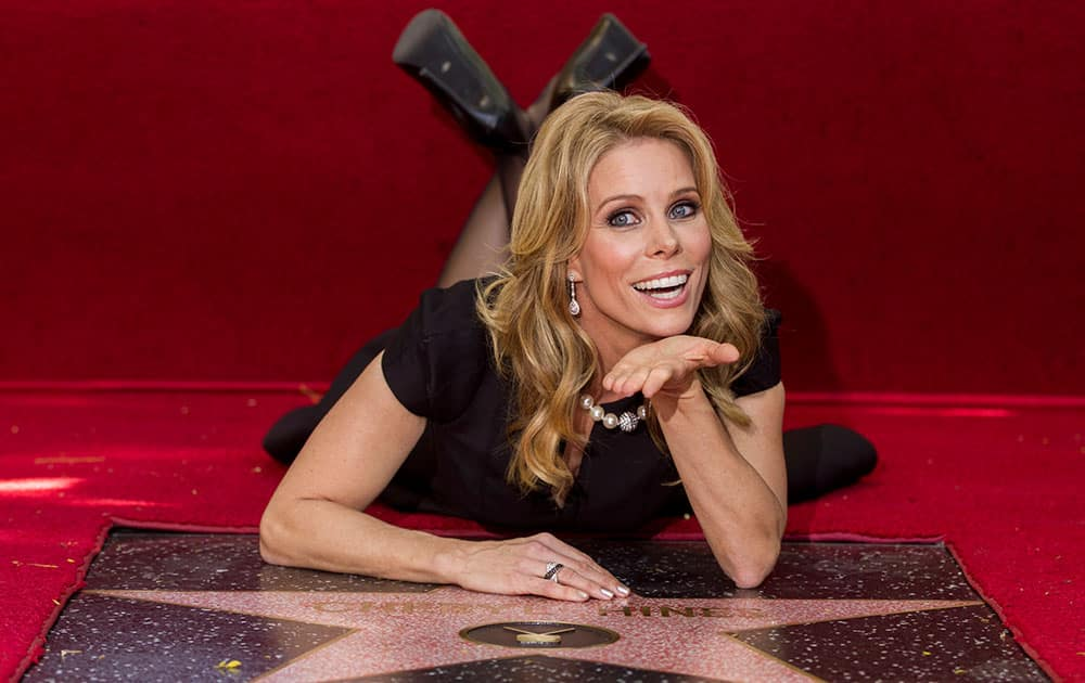 Actress Cheryl Hines is honored with a star on the Hollywood Walk of Fame in Los Angeles.