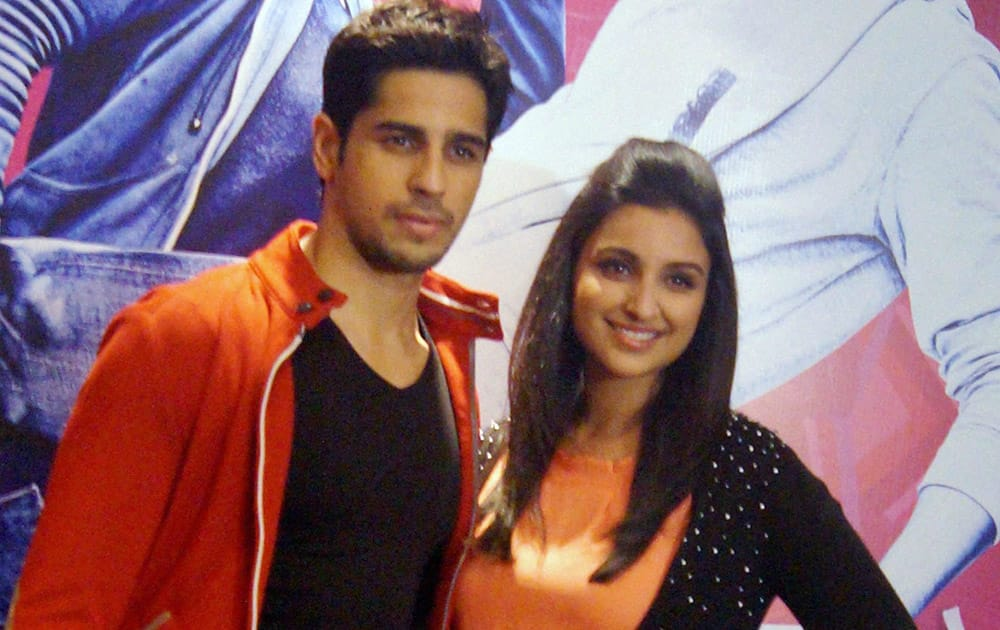 Actors Parineeeti Chopra and Sidharth Malhotra promote their film Hasee toh Phasee.
