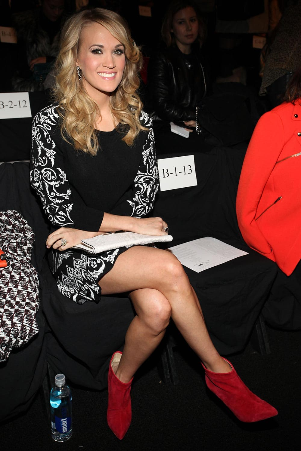 Singer Carrie Underwood attends Rebecca Minkoff Fall 2014 Collection during Mercedes-Benz Fashion Week.