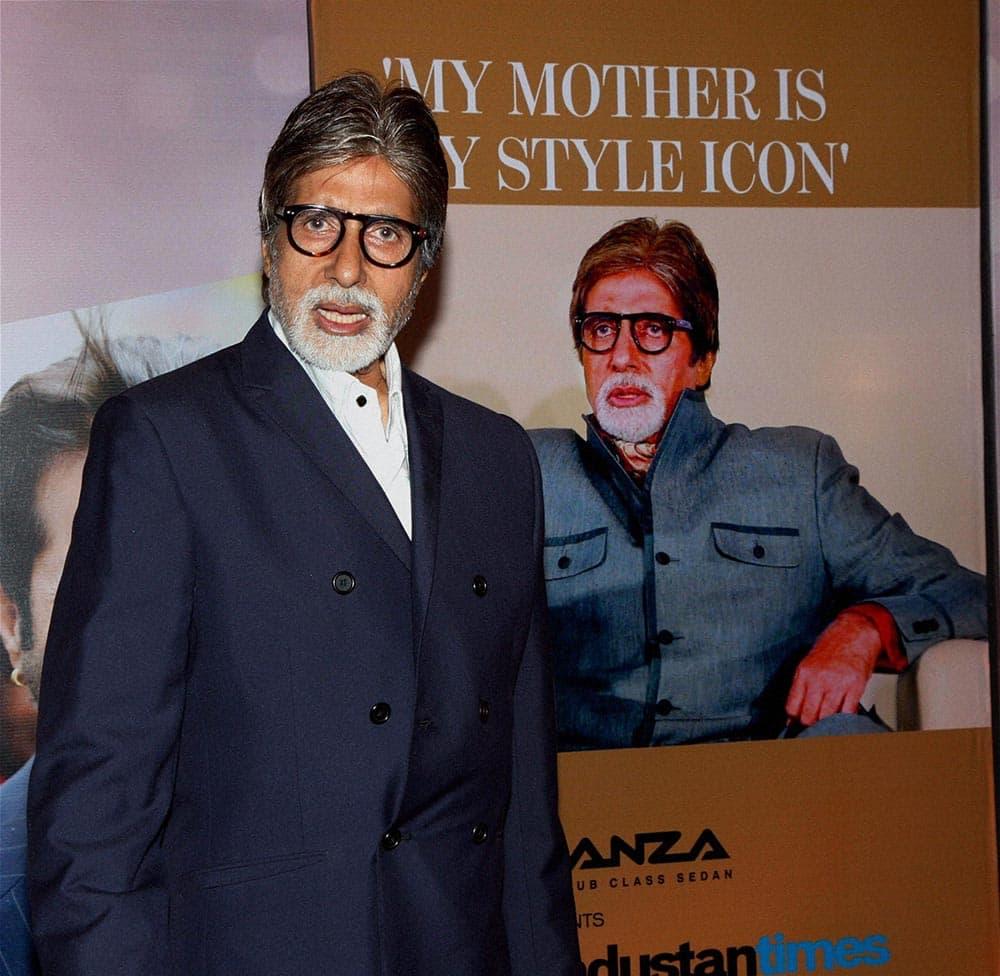 Actor Amitabh Bachchan at an award function in Mumbai.