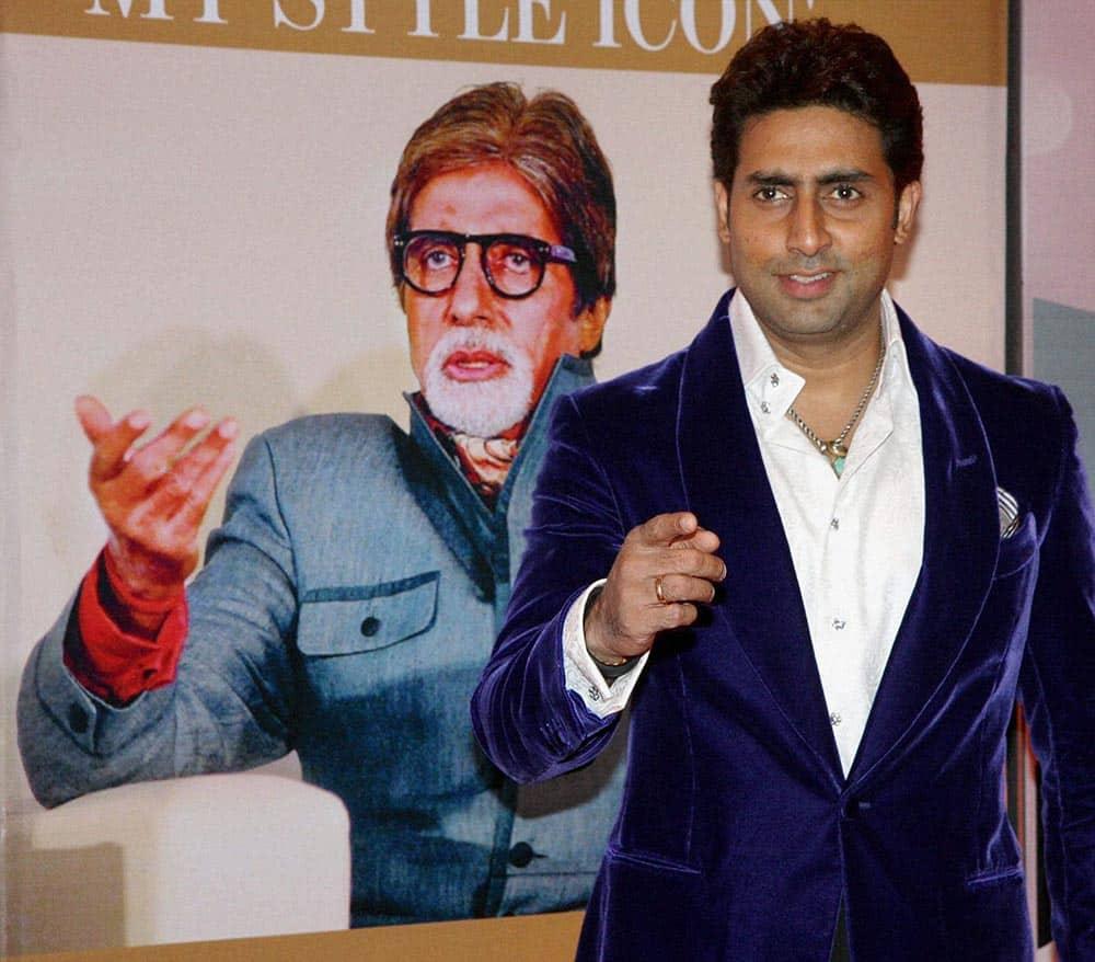 Actor Abhishek Bachchan at an award function in Mumbai.