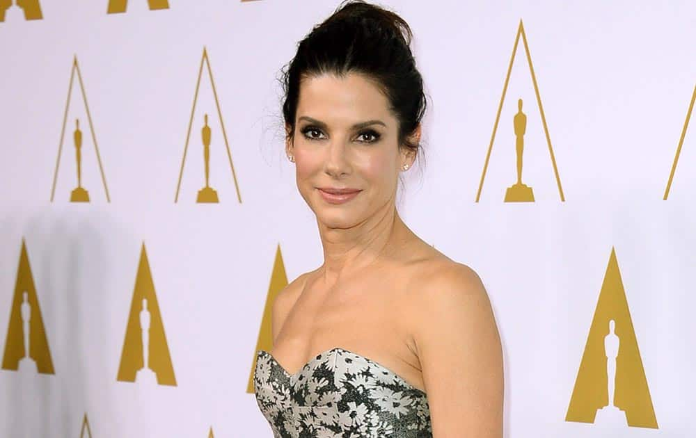 Sandra Bullock arrives at the 86th Oscars Nominees Luncheon, in Beverly Hills, Calif.