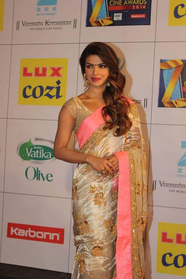 Bollywood actor Priyanka Chopra during the Zee Cine Awards in Mumbai.