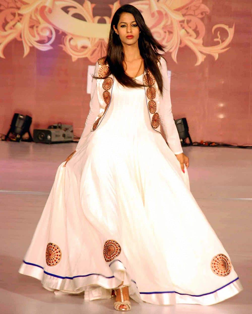 Model walks the ramp during the first day of Wedding fashion tour-2014.