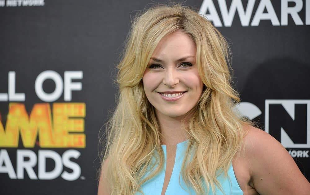 Lindsey Vonn arrives at the 4th Annual Hall of Games Awards in Santa Monica, Calif.