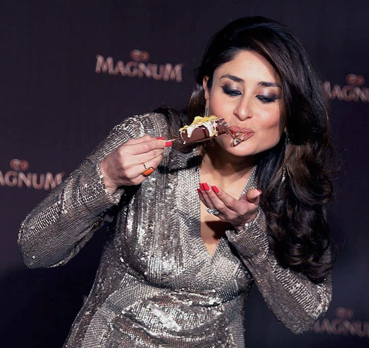 Bollywood Actress Kareena Kapoor after being appointed as the brand ambassador of an icecream brand in Mumbai.