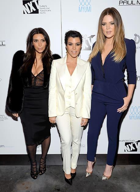 Kim Kardashian, Kourtney Kardashian and Khloe Kardashian Odom attend a Generation NXT Dream Foundation benefit event at 1 Oak in New York.