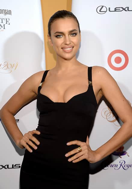 Model Irina Shayk attends the 2014 Sports Illustrated Swimsuit 50th Anniversary Issue kick off event at Swimsuit Beach House in New York.