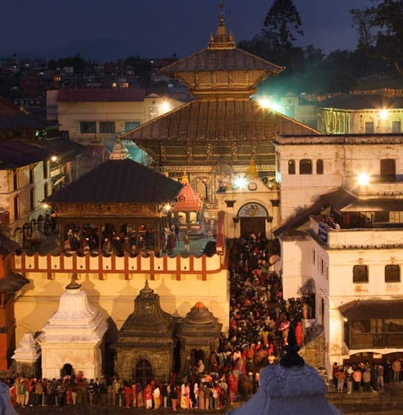 Another version of the legend says that Parvati performed prayers on the auspicious moonless night of Shivaratri to ward off any evil that may befall her husband. Since then, women began the custom of praying for the well being of their husbands and sons on Shivaratri. (Pic: Pashupatinath Temple)