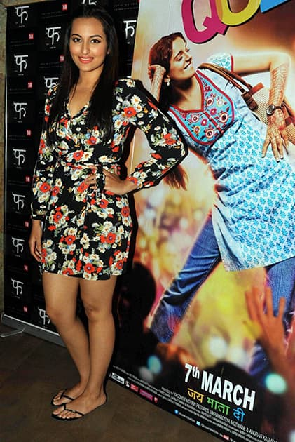 Sonakshi Sinha at the special screening of the film 'Queen' in Mumbai.