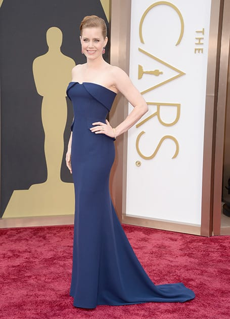 Amy Adams arrives at the Oscars, at the Dolby Theatre in Los Angeles.
