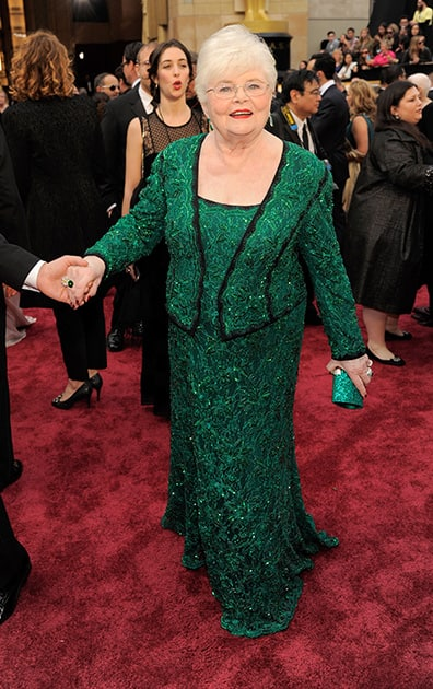 June Squibb arrives at the Oscars, at the Dolby Theatre in Los Angeles.