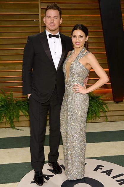 Channing Tatum and Jenna Dewan-Tatum attend the 2014 Vanity Fair Oscar Party, in West Hollywood, Calif.
