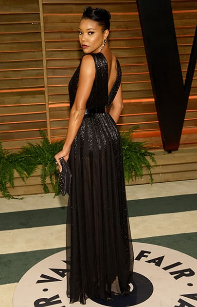 Gabrielle Union attends the 2014 Vanity Fair Oscar Party, in West Hollywood, Calif.