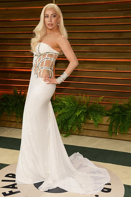 Lady Gaga attends the 2014 Vanity Fair Oscar Party, in West Hollywood, Calif.