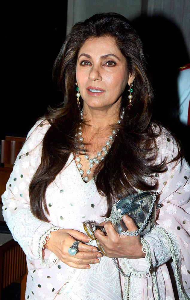 Bollywood actor Dimple Kapadia during an Awards function in Mumbai.