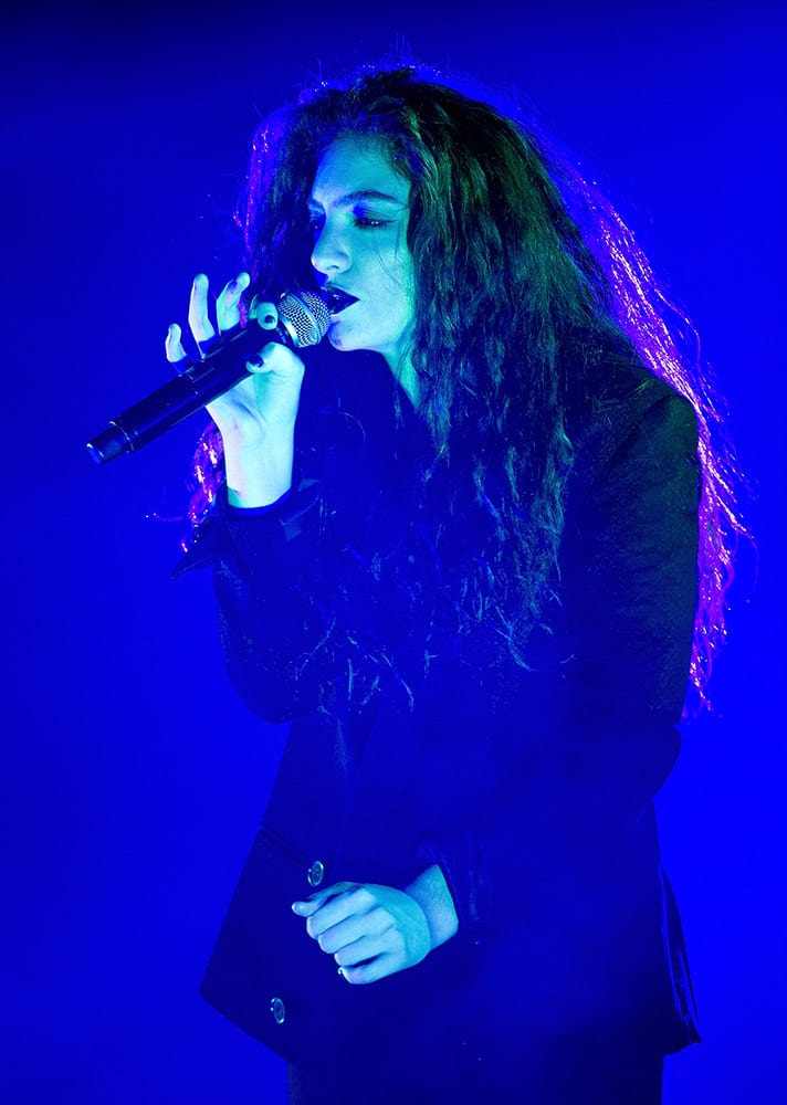 New Zealand singer-songwriter Lorde performs in concert at Roseland in New York.