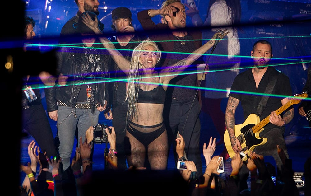 Lady Gaga performs at Stubb's in Austin, Texas, during the South by Southwest Music Festival.