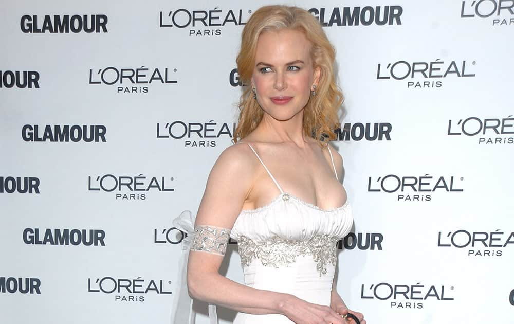 Actress Nicole Kidman in a L'Wren Scott gown at the 2008 Glamour Women of the Year Awards at Carnegie Hall in New York.