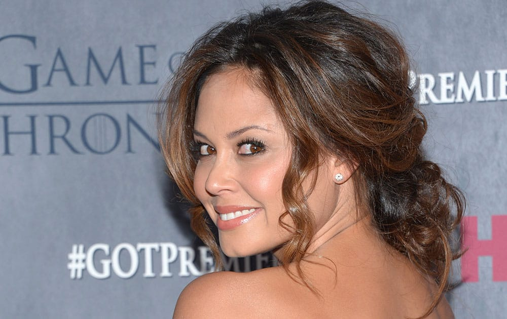 Vanessa Lachey arrives at New York Premiere of `Game of Thrones` Fourth Season in New York.