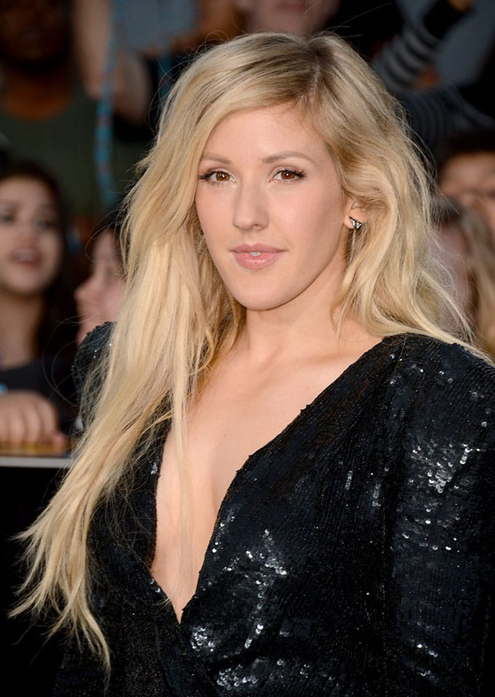 Ellie Goulding arrives at the world premiere of `Divergent` at the Westwood Regency Village Theater in Los Angeles.