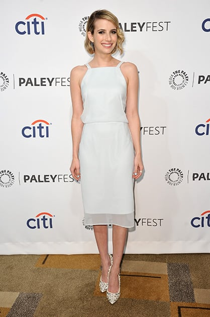 Emma Roberts arrives at PALEYFEST 2014 - 'American Horror Story: Coven' at the Kodak Theatre, in Los Angeles.