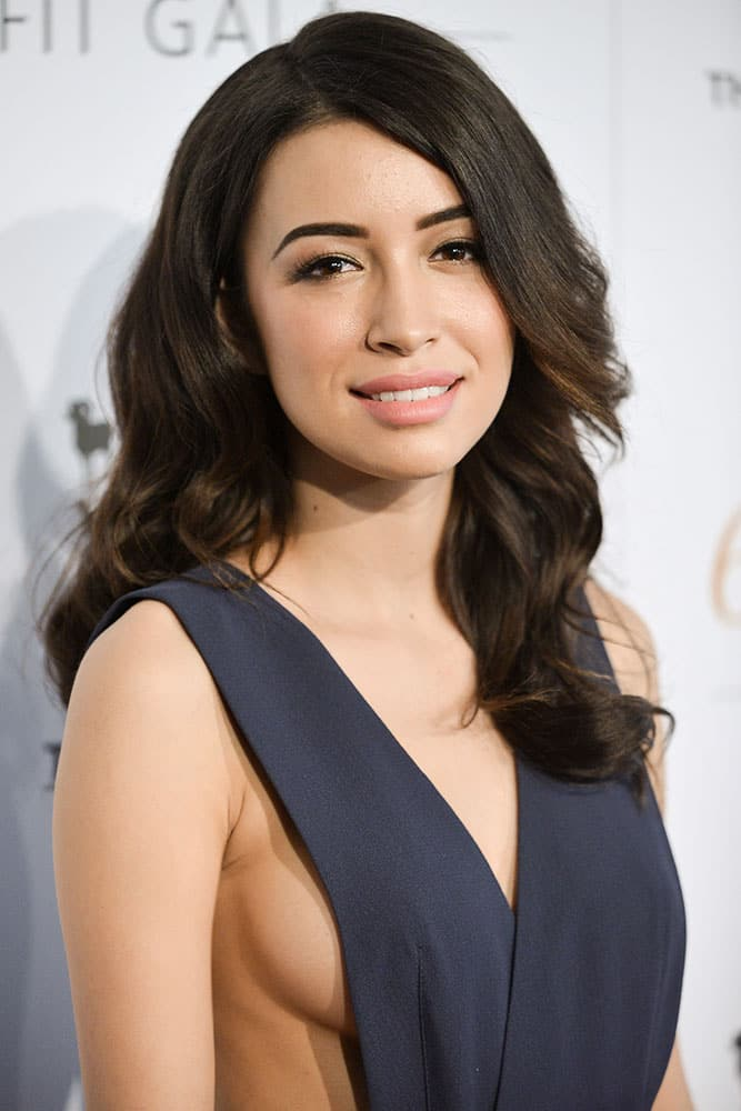 Christian Serratos arrives at The Humane Society Of The United States 60th Anniversary Benefit Gala in Beverly Hills, Calif.