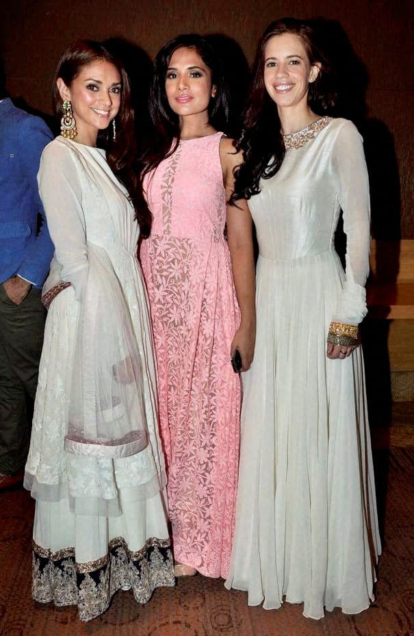Actors Kalki Koechlin, Richa Chadda and Aditi Rao Hydari during a fashion event in Azamgarh.