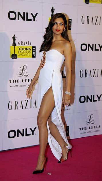 Esha Gupta during the Grazia Young Fashion Awards 2014 in Mumbai.