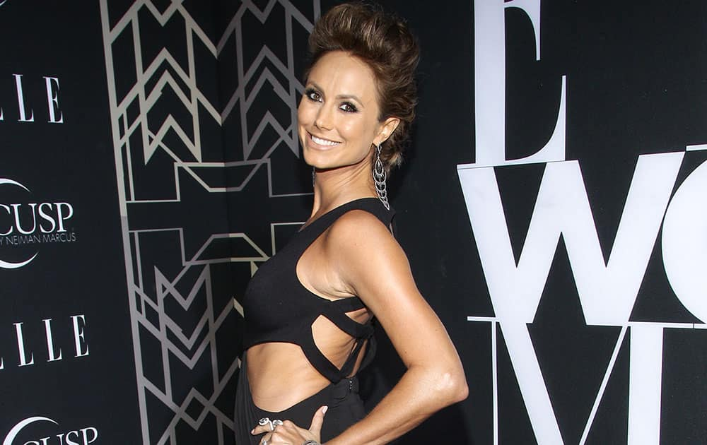 Actress Stacy Keibler attends the 5th Annual ELLE Women in Music Celebration at theAvalon in Hollywood, California.