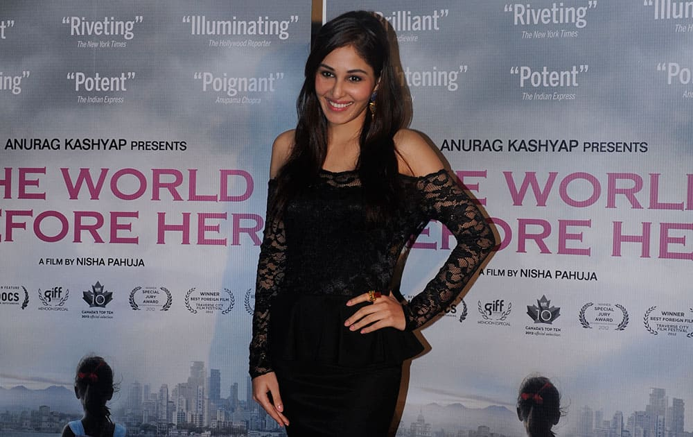 Pooja Chopra at the launch of the first look of the movie The World Before Her in Mumbai. DNA