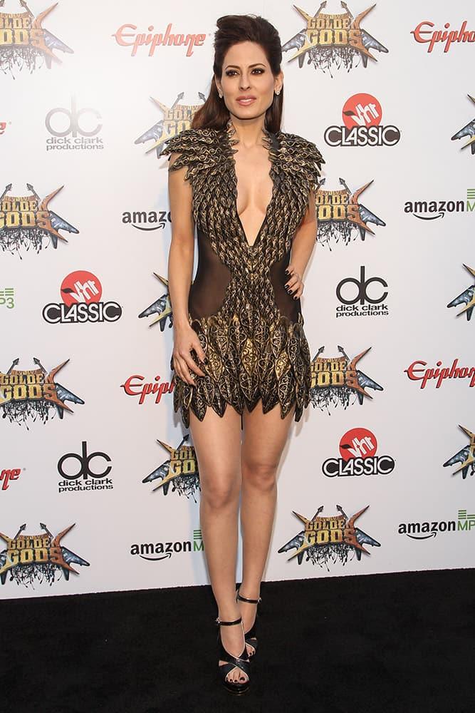 Radio personality Kerri Kasem attends the 6th Annual Revolver Golden Gods Award Show at Club Nokia, Los Angeles, California.